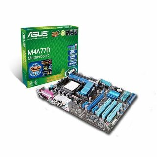 Product image of Asus M4A77D Motherboard AM2+ AMD 770 ATX RAID SATA Gigabit LAN