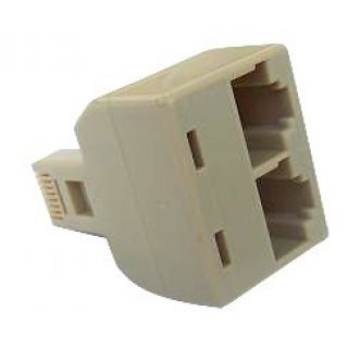 Product image of Belkin Hub 2 port Passive RJ45 Adaptor (White)