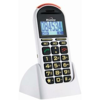 Product image of Binatone Speakeasy 200 BB200 Big Button GSM Mobile Phone (White)