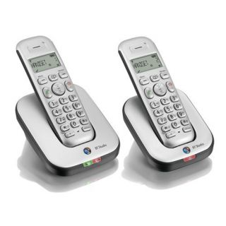Product image of BT Studio 4100 Twin DECT Cordless Phone (Silver)