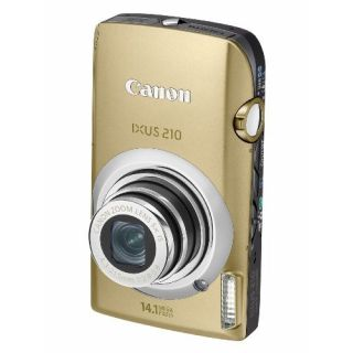 Product image of Canon IXUS 210 Digital Camera 14.1MP 5x Optical Zoom 3.5 inch LCD (Gold)