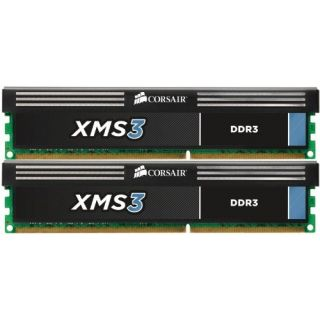 Product image of Corsair XMS3 8GB (2 x 4GB) Memory Kit PC3-12800 1600MHz DDR3 DIMM 240pin CL9