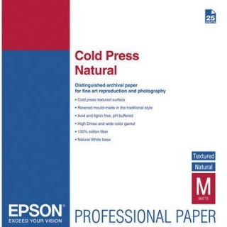 Product image of Epson Fine Art Cold Press Natural Paper Cotton Rag A3+ 340gsm (25 Sheets)