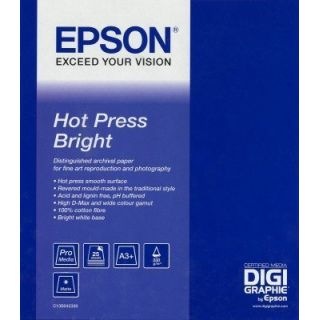 Product image of Epson Fine Art Hot Press Bright Paper Roll Paper (60 inch x 15m) 325gsm