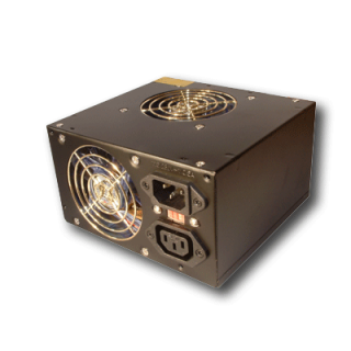 Product image of 500W Dual Fan PSU - Supports P3/P4/AMD Platforms (Silver)