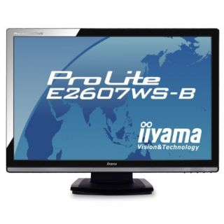 Product image of Iiyama ProLite E2607WS Monitor 26 inch WUXGA TFT LCD 1000:1 300cd/m2 2ms 1920 x 1200 D-Sub/DVI-D/HDMI  (Black)