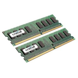 Product image of Crucial 2GB Memory Kit (2x1GB) PC2-6400 800MHz DDR2 Unbuffered Non ECC CL6 240-pin DIMM