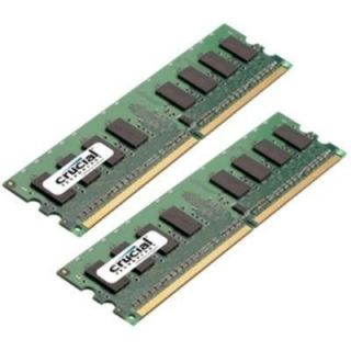 Product image of Crucial 4GB (2x2GB) Memory Kit PC2-8500 1066MHz DDR2 240-pin DIMM CL7 Unbuffered Non ECC