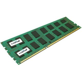 Product image of Crucial 4GB Memory Kit (2x2GB) PC3-8500 1066MHz DDR3 Unbuffered Non-ECC CL7 240-pin DIMM