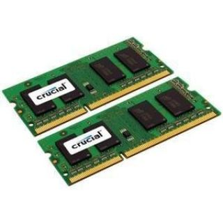 Product image of Crucial 8GB Memory Kit (2x4GB) PC3-10600 1333MHz DDR3 Unbuffered Non-ECC CL9 204-pin SO-DIMM