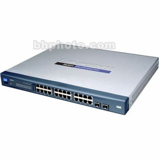 Product image of Linksys 24-Port 10/100 + 2-Port 10/100/1000 Gigabit Smart Switch with 2 Combo SFPs and PoE