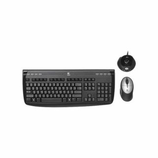Product image of OEM - Logitech Cordless 1500 Desktop Rechargeable Keyboard and Mouse - PS/2 USB (Black)