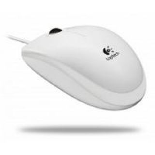 Product image of Logitech B110 USB Optical Wired Mouse (White)