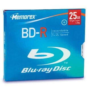 Product image of Memorex BD-R 25GB 4x Blu-ray Disc Jewel Case (Single)