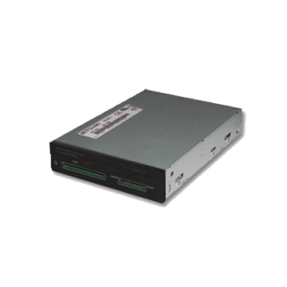 Product image of Mitsumi 7-in-1 Floppy Drive + Flash Media Reader Combo Drive SM/MS/MD/CF/MM/SD (Black)