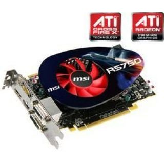 Product image of MSI R5750-PM2D1G Radeon HD 5750 Graphics Card 1024MB PCi-E DVI HDMI