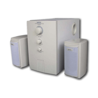 Product image of Niveous SA620 2.1 Channels Subwoofer Speakers System 1380W PMPO 11W Total  (Beige)