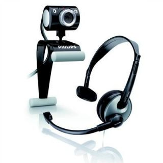Product image of PHILIPS - CONSUMER SPC525 WEBCAM 1.3MP BUNDLED WITH HEASDET AND BOOM MICROPHONE