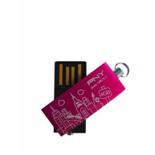 Product image of PNY Micro Attache City Series 4GB USB Memory Key (Pink)