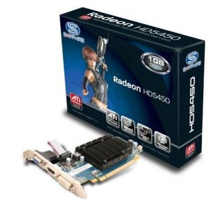 Product image of Sapphire Radeon HD 5450 1024MB PCI-E DL-DVI-I/HDMI/VGA Graphics Card - RoHS