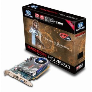 Product image of Sapphire Radeon HD 4650 512MB PCI-E VGA/DVI Graphics Card