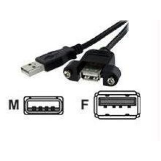 Product image of StarTech (1 feet) USB 2.0 Panel Mount Cable A to A F/M