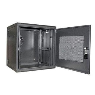 Product image of StarTech 12U 19 inch Hinged Wall Mount Server Rack Cabinet with Steel Mesh Door (Black)