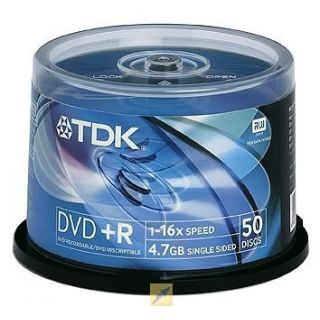 Product image of TDK DVD+R47CBED50-4 TDK DVD+R 16x 50 Pack Spindle