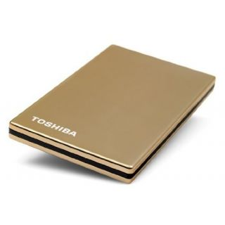 Product image of Toshiba Stor.E Steel 2.5 inch 320GB USB Hard Drive External (Gold)