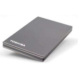 Product image of Toshiba Stor.E Steel 2.5 inch 320GB USB Hard Drive External (Titanium)