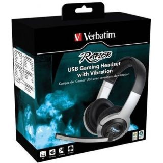 Product image of Verbatim Rapier USB Gaming Headset with Vibration