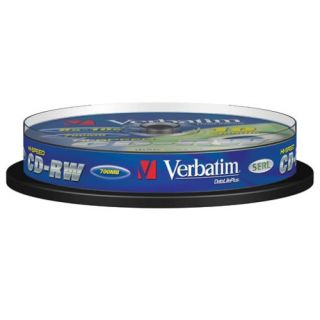 Product image of Verbatim DataLife Plus CD-RW 12x 700MB 80min Spindle (10 Pack)