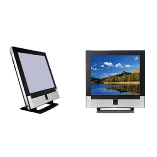 Product image of V7 LTV17D 17 inch SXGA LCD 400:1 300cd/m2 1280 x 1024 20ms Television/Office Monitor (Silver/Black)