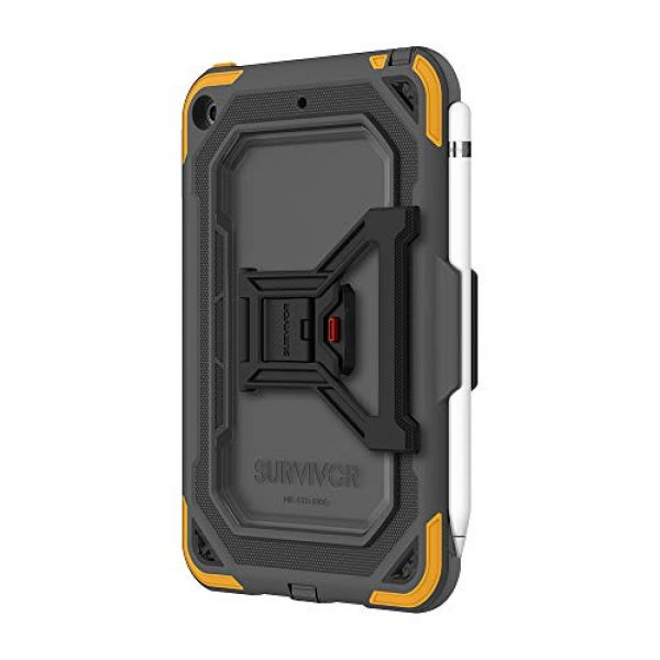 INCIPIO Griffin Survivor All-Terrain - Back cover for tablet - rugged - grey, citrus - for Apple iPad mini 5 Image