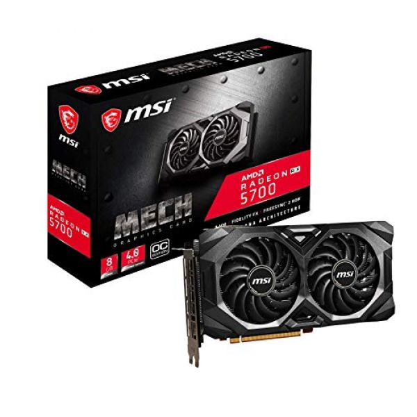 MSI Radeon RX 5700 MECH OC 8GB GDDR6 PCI-Express Graphics Card Image