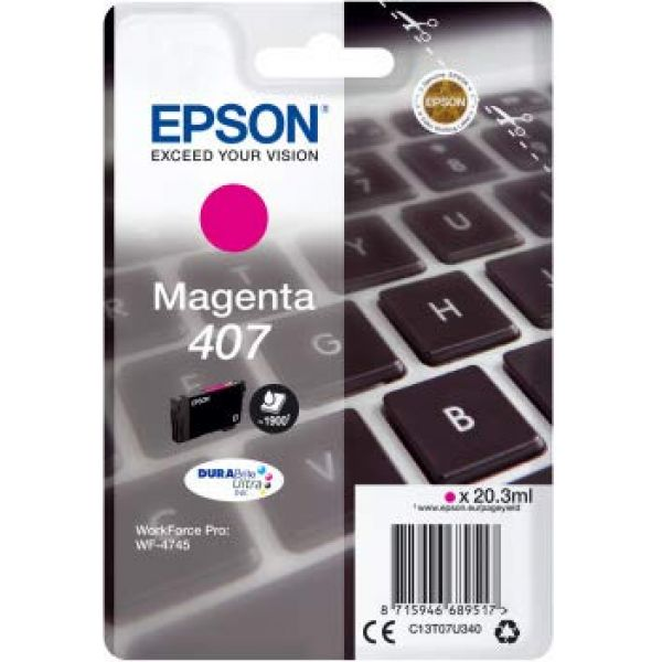 EPSON - BUSINESS INK (S3) WF-4745 SERIES INK CARTRIDG MAGENTA 1 X 38.1 ML CIANO. XL Image