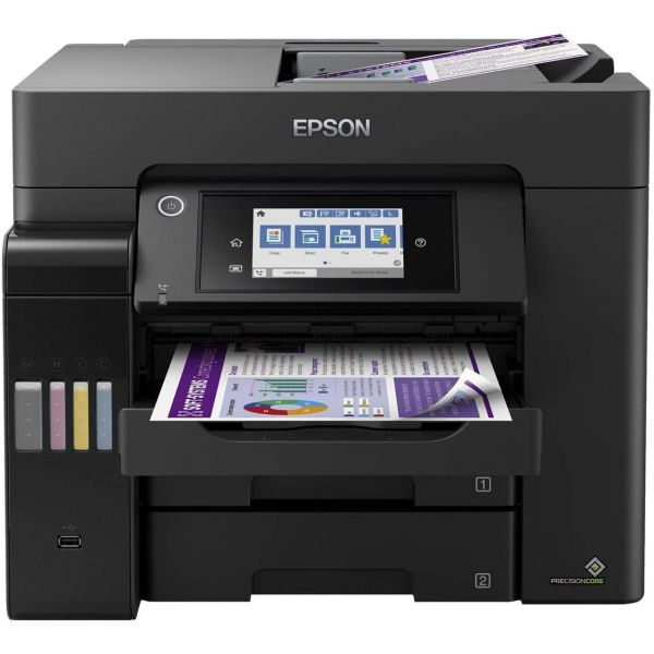 Epson ET-5850 Promotional ink bundle. Printer plus 4 extra ink bottles Image