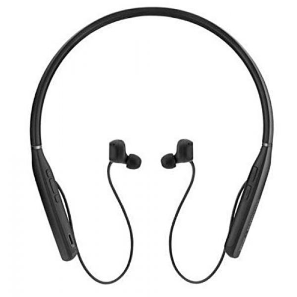 Sennheiser EPOS I SENNHEISER ADAPT 460 - Earphones with mic - in-ear - neckband - Bluetooth - wireless - active noise cancelling - black with silver Image
