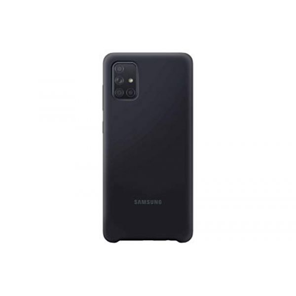 Samsung A71 Soft touch cover Black Image