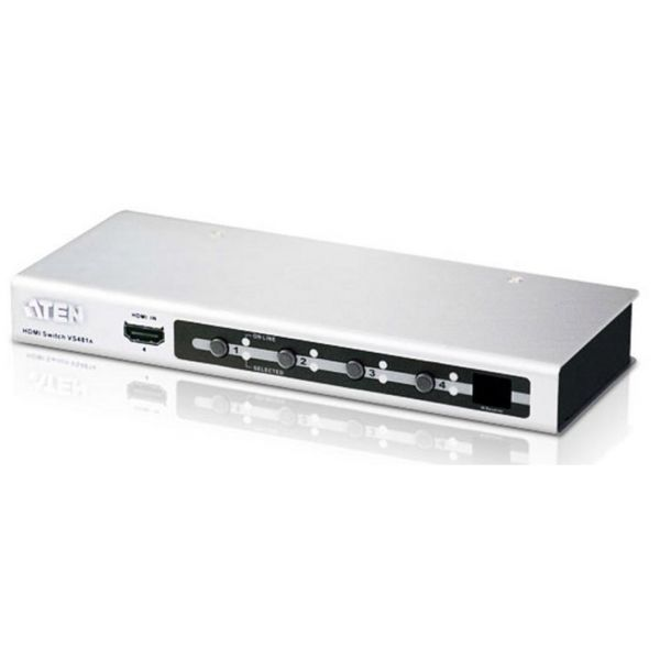 Aten VS481A 4-Port HDMI Switch with Remote Control Image