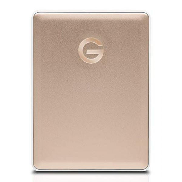 G-Technology G-Drive mobile USB-C (2TB) Portable Hard Drive (Gold) Image
