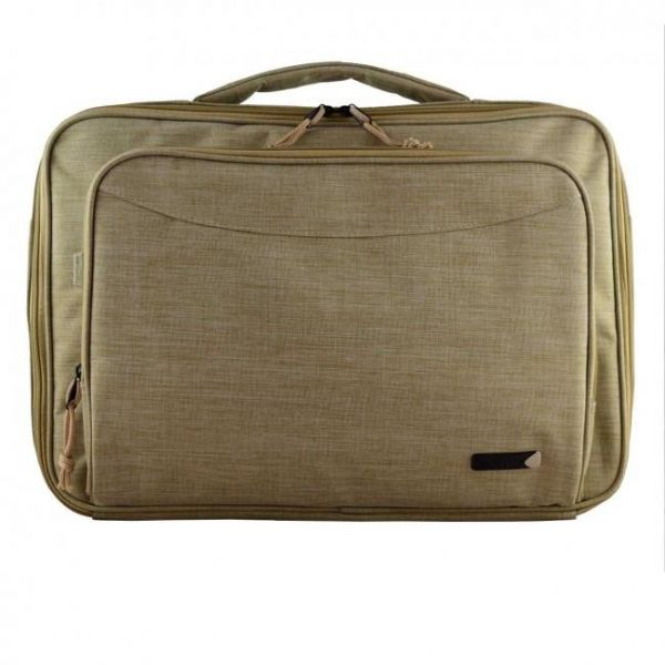 Techair Classic Laptop Bag (Beige) for Laptops (14 - 15.6 inch) Image
