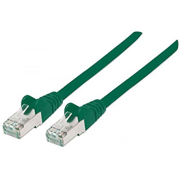 INTELLINET NETWORK CABLE CAT6A COPPER 3M GREEN S/FTP SNAGLESS/BOOTED Image