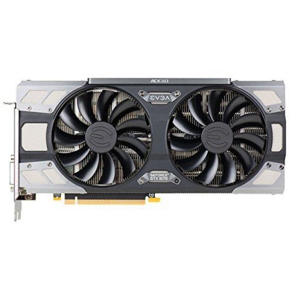 EVGA GeForce GTX 1070 SC GAMING ACX 3 0 (8GB) Graphics Card PCI-E (3 x  DisplayPort) DVI-D HDMI