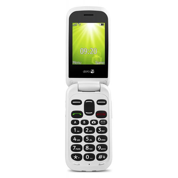 [Ex-Demo] Doro 2404 Easy To Use Flip Phone GSM Bluetooth (Black/White) (Not  in original packaging)