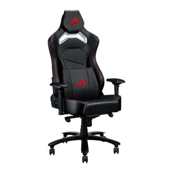 Asus ROG Chariot Core Gaming Chair Racing-Car Style Steel Frame PU Leather Memory-Foam Lumbar 4D Armrests 145° Recline  Tilt & Class 4 Gas Lift Image