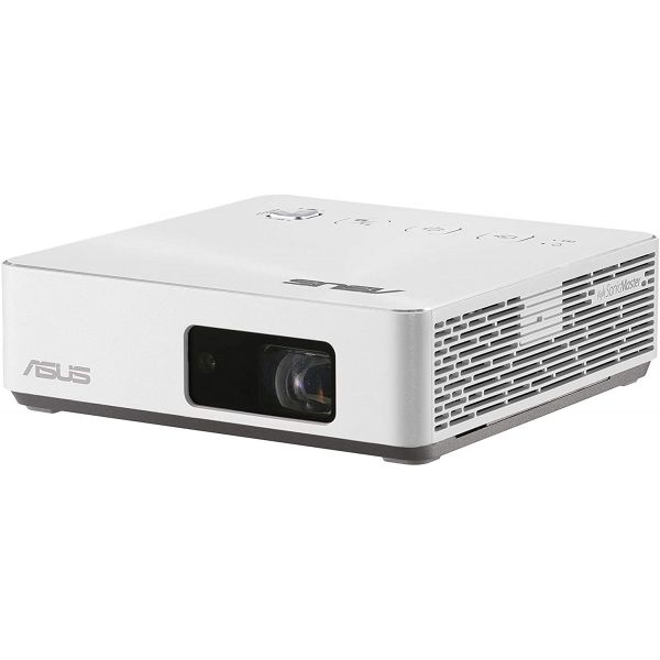 ASUS S2 White USB-C Portable LED Projector 720P (1280x720) 500 Lumens Built-In 6000mah Battery Keystone Adjustment Auto Focus Wireless Proje Image