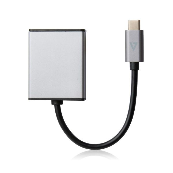 V7 USB-C Male to HDMI Female Adaptor Grey Aluminum