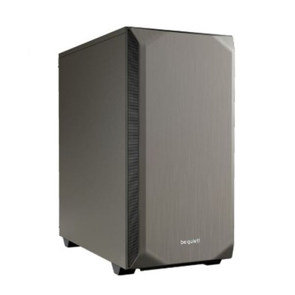 Be Quiet! Pure Base 500 Gaming Case ATX No PSU 2 x Pure Wings 2 Fans PSU Shroud Metallic Grey Image