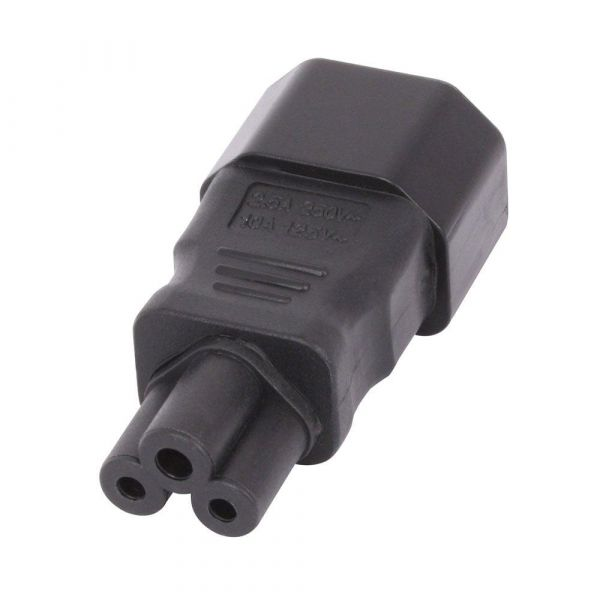 Lindy IEC C13 to IEC C5 Power Cable Adaptor (Black) Image
